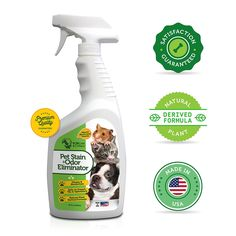 Natural Enzyme Pet Stain and Pet Odor Eliminator. Professional Strength Cleaner for Stain and Odor Removal. Pet Carpet Cleaner Spray Solution for Dog and Cat Urine Stains. 32oz. By K9 Catz and Critterz * More infor at the link of image  : Cat litter
