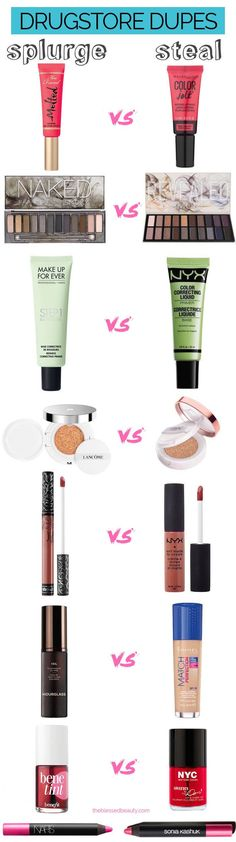 The ultimate list of 55+ best drugstore makeup dupes, most under $10. Make sure you check out our drugstore makeup dupes compared to their high-end counterparts you won't be disappointed.