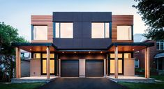 NoHo exterior Westboro Beach modern semi-detached infill project Youth Sports Schedules: Alerts Keep Townhouse Exterior, Modern Townhouse, Townhouse Designs, Exterior Design, Modern Exterior, Duplex House Design, Residential Land, Duplex House Plans, Facade House
