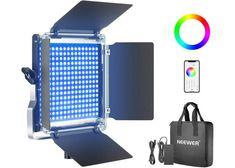 Neewer RGB Luce 530 LED SMD Controllo via APP, CRI 95, 3200-5600K, Luminosità 0% - 100%, 0-360 Colori Regolabili, Staffa-U, Barndoor | piuofferte.it Foto E Video, Smartphone, App, Electronics, Apps, Consumer Electronics