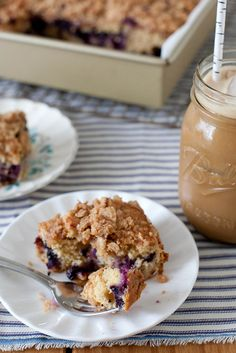 Blueberry Buckle Coffee Cake by Annie Eats