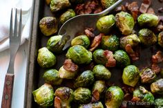 Bacon Roasted Brussel Sprouts  #thanksgiving