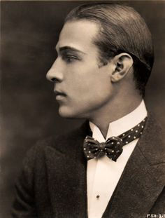 "Rudolph Valentino (May 6, 1895 – August 23, 1926) was an Italian actor, known simply as ""Valentino"" and also an early pop icon. A sex symbol of the 1920s, Valentino was known as the ""Latin Lover"".  ""Women are not in love with me but with the picture of me on the screen. I am merely the canvas on which women paint their dreams."""
