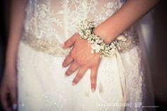 Gipsophila bridal coursages. Bracciale sposa. By Emy Pilia www.glweddings.it Sardinia