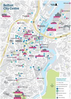 Dublin City Center Map on