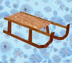 Winter Sled Paper Pieced Quilt Block Pattern