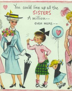 Mid-century Hallmark card to my mother from Evelyn