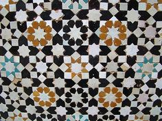 Typical Moroccan tile, Meknes, Morocco