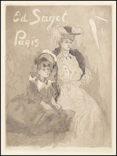 Jacques Villon (FRENCH, 1875-1963) Carte Adresse Sagot: Lot 133-6008 #french #etching #frenchart
