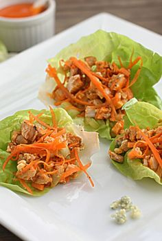 Buffalo Chicken Lettuce Wraps The Hopeless Housewife