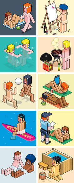 Editorial Illustrations 2014 on Behance