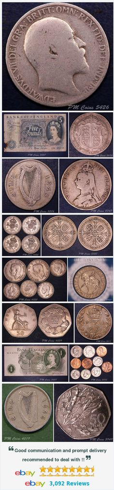 Ireland - coins and Banknotes, UK Coins - Halfcrowns items in PM Coin Shop store on eBay! http://stores.ebay.co.uk/pmcoinshop