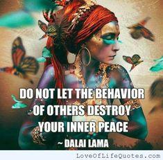 Dalai Lama quote on Inner Peace