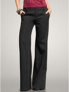 Draped wide-leg trouser pants $50 deep black GAP