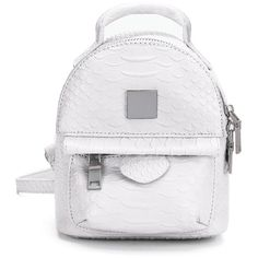 Yoins Snake Leather-look Mini Backpack in White ($29) ❤ liked on Polyvore featuring bags, backpacks, white, faux leather backpack, mini bag, vegan leather bags, miniature backpack and day pack backpack