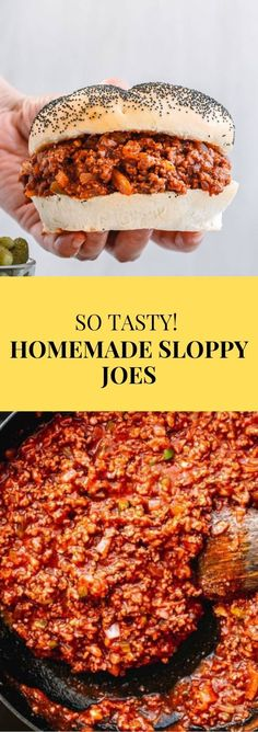 sloppy joe recipe So delicious! The homemade Sloppy Joes sauce is made from scratch, without Manwich! Sloppy Joe sandwiches are a little messy but also very tasty. The loose meat in a tomato-based sauce on a bun is one of my favorite burgers. Homemade Manwich, Homemade Sloppy Joe Sauce, Easy Sloppy Joe Recipe Tomato Sauce, Sloppy Joe Recipe Without Ketchup, Sloppy Joe Seasoning Recipe, Manwich Sloppy Joe, Turkey Sloppy Joes, Easy Sloppy Joes, Sloppy Joe Burger