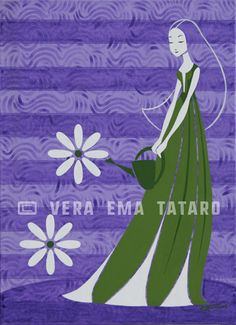 Lady Marguerite - acrylic painting on canvas by Vera Ema Tataro