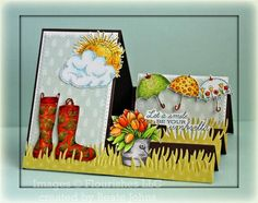 "Flourishes Clear Stamps April Showers Stamp Set 4"" x 6"" SS149 - Flourishes Clear Stamps - Stamps"