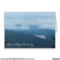 Fog on the Blue Ridge Parkway Greeting Card
