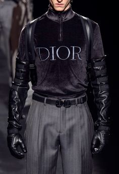 """a-state-of-bliss: """"Dior Menswear Fall/Wint 2019 � Fashion 2020, Runway Fashion, Fashion Brands, High Fashion, Winter Fashion, Fashion Show, Fashion Outfits, Couture Mode, Couture Fashion"""