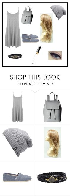 """fifty shades of grey"" by bhanzade on Polyvore featuring WearAll, French Connection, The North Face, TOMS, Alexandra Beth Designs and Chanel"