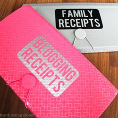 Receipt Organization with Free Cut File the thinking closet 1-13-14