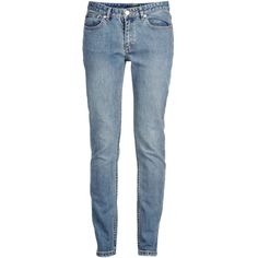 A.P.C. Denim Trousers (€105) ❤ liked on Polyvore featuring pants, bottoms, jeans, blue and a.p.c.