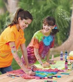 Summer Tie-Dye Shirts  Skill Level: Some experience necessary Crafting Time: 1-2 hours Skill Level: Some experience necessary  add to project list