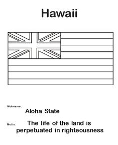 hawaiian language coloring pages - photo#23