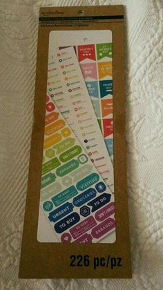 Recollections planner stickers