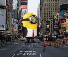 Photoshop Design by The Design King #photoshop #minions #montage #timessquare #nyc #newyorkcity #designcrowd