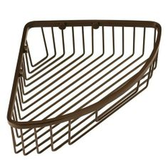 Corner Shower Basket - Burnished Bronze by Gatco Fine Bathware. $99.95. The Corner Shower Basket is solid brass and allows you to keep your soap and bottles handy in the shower. Easily install in the corner of your shower for a convenient storage option. Available in Burnished Bronze finish. Made of solid brass. 9 L x 9 W (front to back) x 3 H. Shower basket fits in corner of shower.