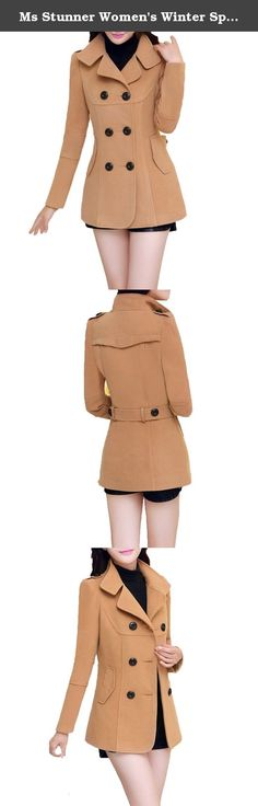 Ms Stunner Women's Winter Spring Solid Color Double Breasted Elegant Wool Coats Khaki CN XXL. Our product size is chinese size, please measure your body and choose the size base on the size information here. CN S: Bust:88cm Length:69cm Shoulder:38cm Sleeve:55cm Waist:74cm Bottom:108cm CN M: Bust:92cm Length:70cm Shoulder:39cm Sleeve:56cm Waist:78cm Bottom:108cm CN L: Bust:96cm Length:71cm Shoulder:40cm Sleeve:57cm Waist:82cm Bottom:112cm CN XL: Bust:98cm Length:72cm Shoulder:41cm…