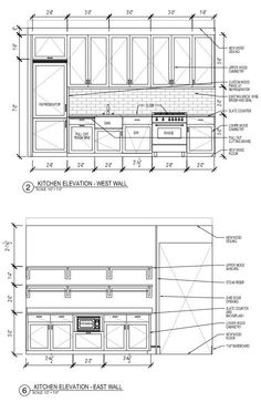 Best Ideas For Kitchen Design Layout Galley - Kitchen. Galley Kitchen Design, Galley Kitchens, Best Kitchen Designs, Interior Design Kitchen, Cool Kitchens, Layout Design, Kitchen Elevation, Kitchen Drawing, Cuisines Design