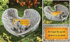Solar Heart Shape Angel Wing Pet Memorial