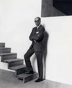 Mexican architect Luis Barragan with his famous stairs.