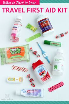Handy list of items to pack in a travel first aid kit