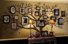 Árbol de Navidad para pared de pegatinas decorativas para pared - gran familia calcomanías para tartas con diseño de árbol de - marco para fotos con diseño de árbol