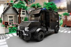 Custom City Police SWAT Truck Model built with by ABSDistributors