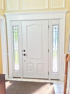 Custom Provia front entry door with sidelights and full light designer glass installed by Nova Exteriors. | Nova Exteriors Door Projects | Pinterest ... & Custom Provia front entry door with sidelights and full light ...