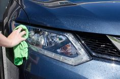 Use baking soda toothpaste to rub away the grime on headlights.