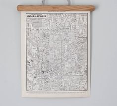 Indianapolis 1930s Map / Antique Indiana City Map by reclaimer, $15.00