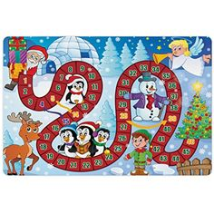 Board Game Pet Mats for Food and Water by Lunarable, Christmas Themed Composition with Santa Claus Cartoon Angel Snowman Penguins Elf, Rectangle Non-Slip Rubber Mat for Dogs and Cats, Multicolor * Want to know more, click on the image. (This is an affiliate link) #DogFeedingWateringSupplies