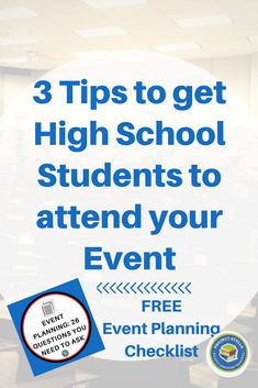 3 Tips to get High School Students to attend your events. This post includes Ideas for event planning and event publicity that gets high school students to come to your programs and activities. Pta School, School Clubs, School Events, High School Students, School Counseling, School Ideas, High School Games, High School Parties, Leadership Activities