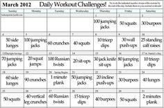 Daily fitness challenges