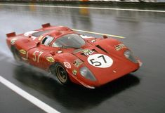 Le Mans, 1970: NART's #Ferrari 312P. A year-old chassis by then, it was dominated by the 917s. Photo: Yves Debraine
