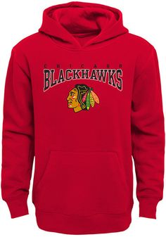 31e415e59 Chicago Blackhawks Youth Red Fadeout Long Sleeve Hoodie