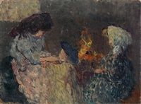 La Flambée les enfants Bompart by Louis Valtat
