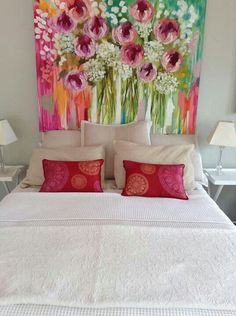 flower painting in bedroom Diy Wall Art, Diy Art, Abstract Flowers, Acrylic Art, Art Pictures, Painting Inspiration, Flower Art, Decoration, Art Projects