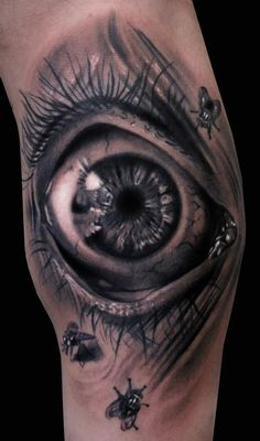 3d tattoo eye Amazing 3D Tattoos as seen on CoolWeirdo.com-I like the detail of these eye tattoo very much!